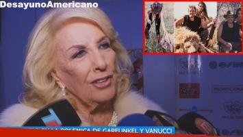 La polémica declaración de Mirtha Legrand tras las fotos de Vannucci y Garfunkel cazando animales