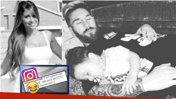 La tierna foto de Leo Messi con su hijo menor que publicó Antonella Roccuzzo en Instagram (Fotos: Instagram)