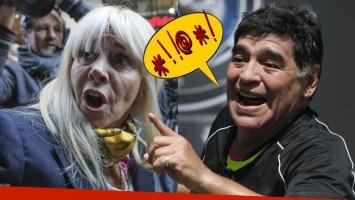 La desubicada frase que Maradona le dedicó a Claudia Villafañe. Foto: Web