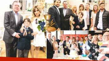 El álbum de fotos de la comunión del hijo de Marcela Tauro (Fotos: revista Paparazzi)