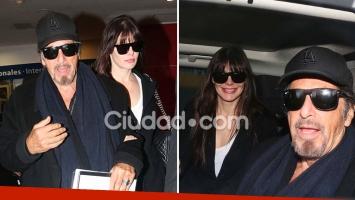 Las fotos de la llegada de Al Pacino y Lucila Polak a Buenos Aires