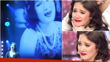 El emotivo homenaje de Ángela Torres a su abuela Lolita en ShowMatch (Fotos: Prensa Ideas del Sur y Captura)