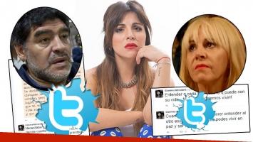Gianinna y un duro descargo tras los fuertes dichos de Maradona sobre Villafañe (Foto: web y Twitter)