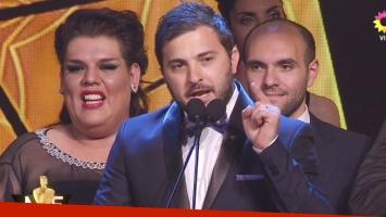 El picante discurso de Diego Brancatelli en los Martín Fierro de Radio 2016 (Foto: Captura)