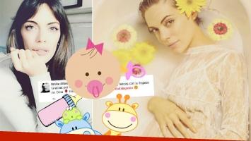 El primer tweet de Emilia Attias tras dar a luz a Gina (Foto: Instagram y Twitter)