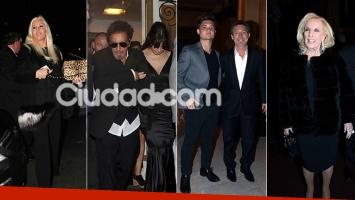 Los famosos fueron a ver a Al Pacino al Teatro Colón