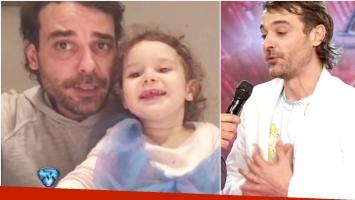 El tierno video de Pedro Alfonso con Olivia cantando una canción de María Elena Walsh (Fotos: Captura)