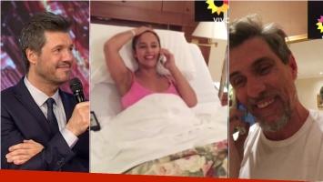 Lourdes Sánchez habló desde la clínica en ShowMatch tras el nacimiento de Valentín