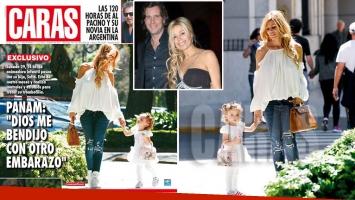 Panam con su pancita de 4 meses y su hija Sofía. (Foto: revista Caras)