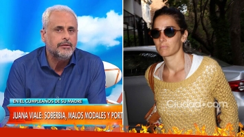 Feroz crítica de Rial, tras el desplante de Juana Viale a los medio