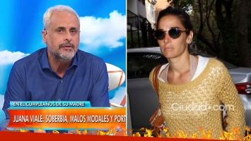 Feroz crítica de Rial, tras el desplante de Juana Viale a los medios