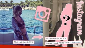 Mirá cómo está Wanda Nara a cinco días de dar a luz a Isabella. (Foto: Instagram)