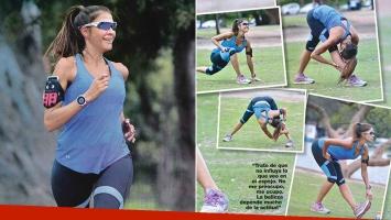 Las fotos de Cathy Fulop, en un día de intenso entrenamiento (Foto: revista Gente)