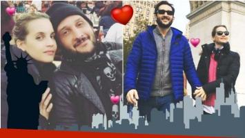 El álbum romántico de las vacaciones de Germán Paoloski y Sabrina Garciarena en Nueva York (Fotos: Instagram)