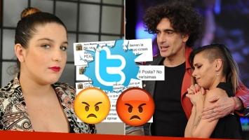 Juana Repetto, enojada tras la eliminación de Favio Posca del Bailando (Foto: web y Twitter)