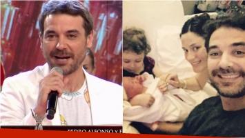 La desopilante frase de Pedro Alfonso cuando Tinelli le preguntó si Paula Chaves estaba más calma con su nueva maternidad