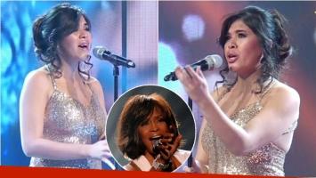 La increñible imitación a Whitney Houston en Hacelo feliz (Fotos: Captura y Web)