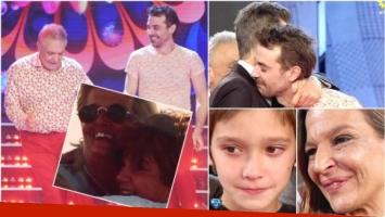 El emotivo merengue en familia de Pedro Alfonso y su papá en ShowMatch (Fotos: Prensa Ideas del Sur, Captura e Instagram)