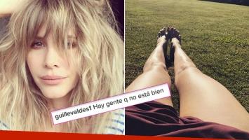 Guillermina Valdés, enojada en Instagram por los comentarios agresivos que reciben sus fotos.