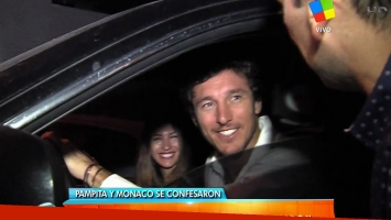 Pampita y Pico Mónaco en su primera nota juntos. (Fotos: Captura TV)