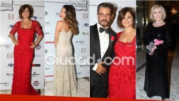 Los famosos a puro glamour en la gala benéfica de Araceli González. Foto: Movilpress