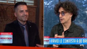 De Brito le respondió a Favio Posca, tras culparlo de su eliminación del Bailando. Fotos: Capturas TV.
