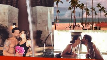 Juliana Giambroni y Matías Di Chiara en Punta Cana. Fotos: Instagram.