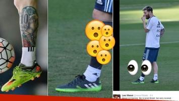 Messi modificó su clásico tatuaje de su pierna izquierda. (Fotos: Web y Twitter)