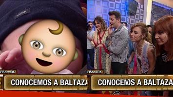 Paula Chaves presentó a Baltazar en Este es el show.