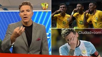 Durísimo editorial de Fantino, tras la goleada de Brasil a la Selección