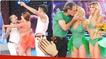 Charlotte Caniggia ganó su cuarto voto telefónico y eliminó a los Ruggeri del Bailando (Fotos: Prensa Ideas del Sur)