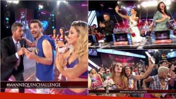 Tinelli y Pedro Alfonso se subieron en ShowMatch al fenómeno del Mannequin Challenge