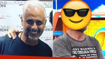 Jorge Rial se cambió nuevamente el look.