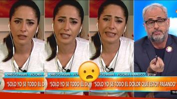 El llanto de Victoria Vannucci.