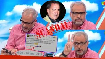 Los repudiables tweets de Marcelo Open contra Rial y la respuesta del conductor en Intrusos. Fotos: Captura y archivo Web