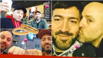 José María Muscari se comprometió con su novio Guillermo D'Anna en Nueva York (Fotos: revista Gente e Instagram)