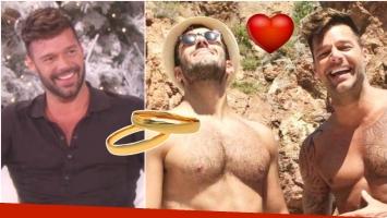 Ricky Martin se comprometió con su novio, Jwan Yosef (Fotos: Captura e Instagram)