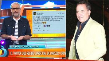 El descargo de Jorge Rial tras los fuertes tweets de Marcelo Open discriminando a sus hijas (Fotos: Captura y Web)