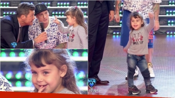 Alma, la hija de El Polaco enterneció ShowMatch. Foto: Captura