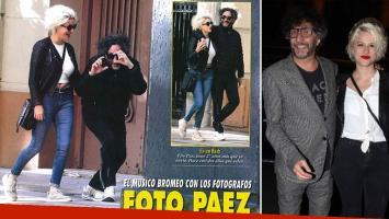 Fito Páez jugó con el fotógrafo que intentó hacerle una foto callejera con su joven novia (Foto: revista Pronto)