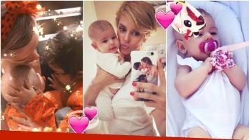Las tiernas fotos de la beba de Vanina Escudero y Álvaro Navia, a un mes de nacimiento (Fotos: Instagram)