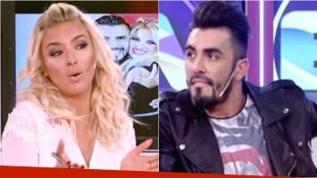 El desplante de Fernando Bertona a Ailén Bechara: se negó a saludar a su ex en el vivo de un ciclo. Foto: Captura