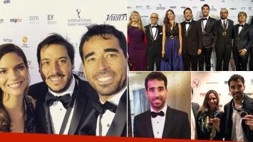 Nacho Viale, en los Emmy por la nominación de La casa del mar (Foto: Instagram)