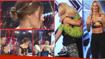 Pampita no aplaudió a Nicole Neumann en ShowMatch (Fotos: Captura y Prensa Ideas del Sur)