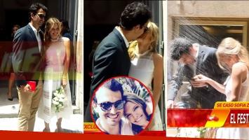 Se casaron Sofía Zámolo y Joe Uriburi.