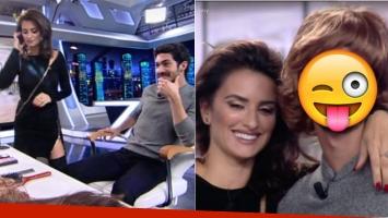 La transformación del Chino Darín a manos de Penélope Cruz. Fotos: Capturas TV El Hormiguero.
