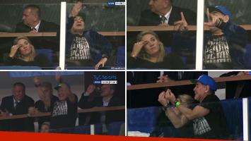 Los viscerales géstos de Diego Maradona en la Copa Davis: de la furia a la felicidad