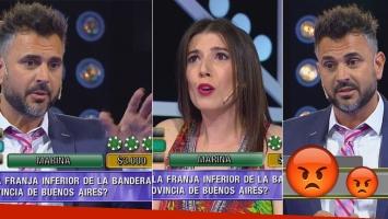 Leo Montero se enojó en vivo con una participante de La ruleta del saber