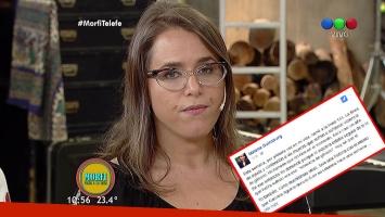 Malena Guinzburg ratificó en Morfi su denuncia como víctima de violencia de género
