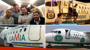 La Selección Argentina viajó en el mismo avión que se estrelló con el plantel Chapecoense en Colombia